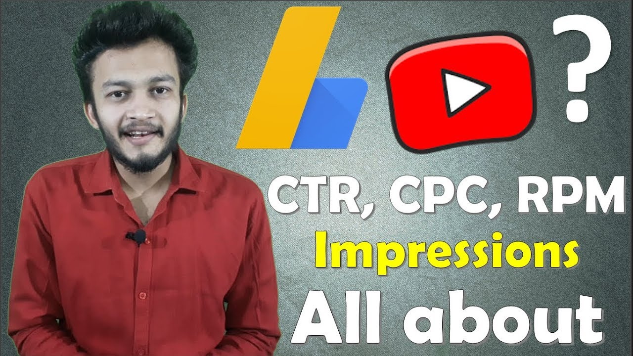 {HINDI} What is Google Adsense Page views, impressions, CTR, CPC, RPM || All about google adsense