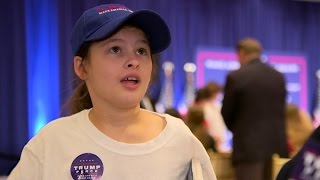 Is this 11-year-old girl Trump's biggest fan?