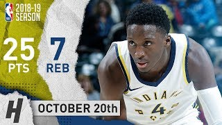 Victor Oladipo Full Highlights Pacers vs Nets 2018.10.20 - 25 Pts, 7 Reb