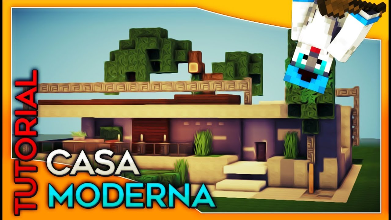 Minecraft tutorial de como hacer una casa moderna by for Como construir una casa moderna
