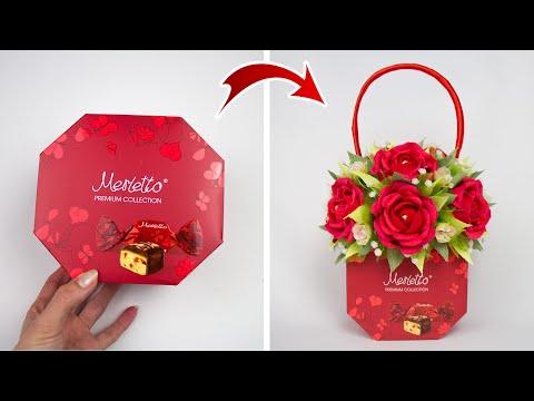 Идея:-Взяли-коробку-конфет-и-сделали-подарок-женщине.-Поделки-на-8-марта