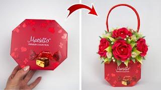 Идея: Взяли коробку конфет и сделали подарок женщине. Поделки на 8 марта