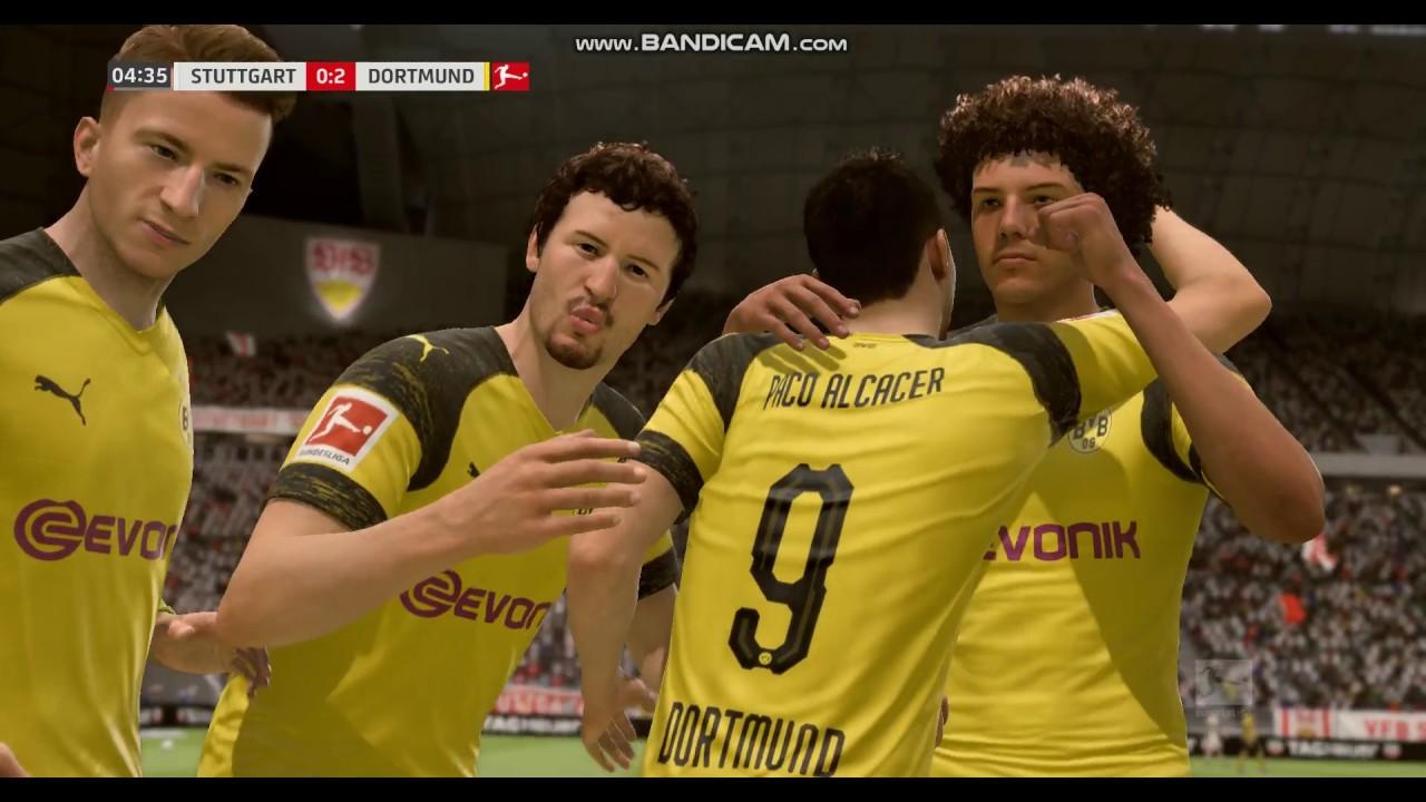 Paco Alcacer Goal Borussia Dortmund Vs Vfb Stuttgart Bundesliga Fifa