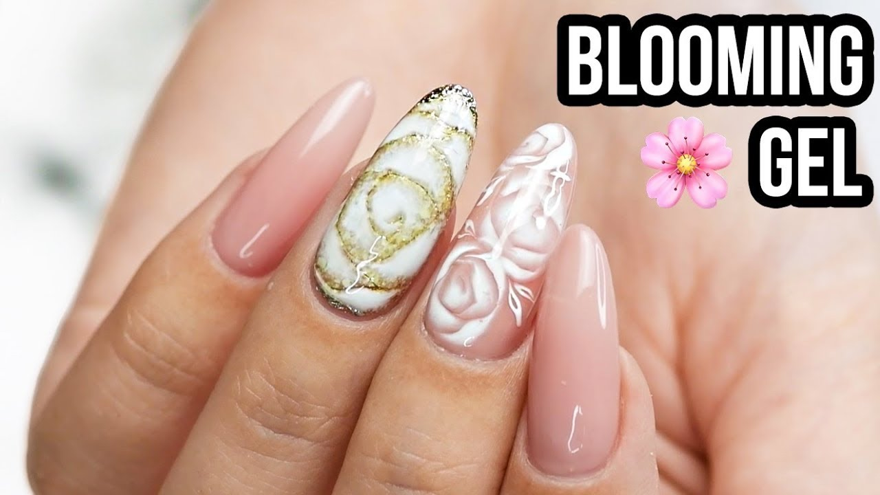 Easy Rose Nails Using Blooming Gel Youtube