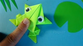 Origami jumping frog: How to make a paper frog that jumps high and far 🐸 Easy tutorial