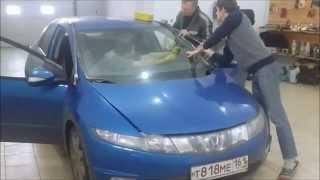 Замена лобового стекла Honda Civic 5d 2007