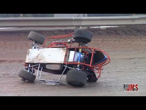 LANCO Clyde Martin Speedway Wingless Labor Day Flips, Crashes, Wild moments