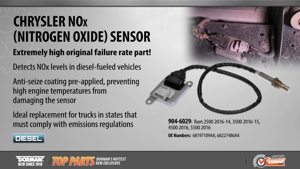 Highlighted Part: NOx (Nitrogen Oxide) Sensor for Select RAM Models