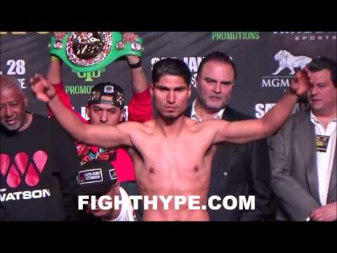 DEJAN ZLATICANIN VS. MIKEY GARCIA OFFICIAL WEIGH-IN AND FINAL INTENSE FACE OFF