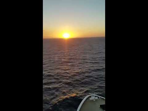 Norwegian Epic sunset at Sea