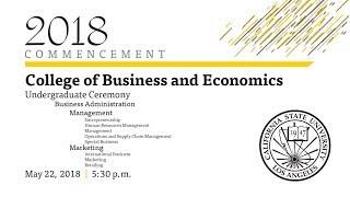 College of Business and Economics Undergraduate Ceremony