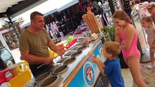 Tureckie lody  Sprytny sprzedawca magik  turkish ice cream  WAKACJE ZABAWOWO I FAJOWO