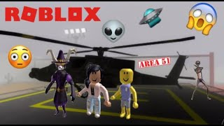 PLAYING ROBLOX AREA 51 | WE SAW PENNYWISE