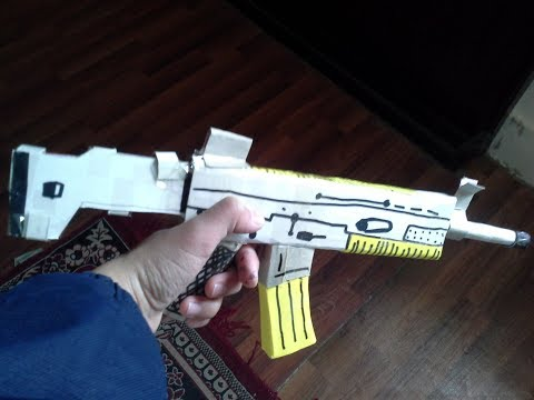 How to make an easy paper scar-l from PUBG.