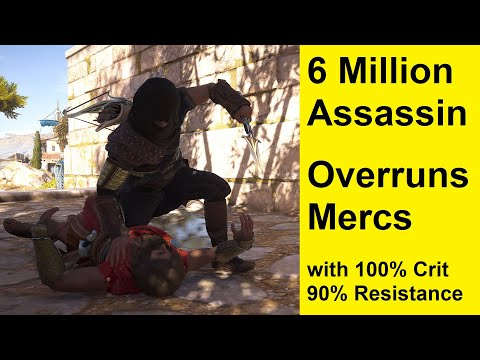 Assassins Creed Odyssey - 6 Million Perfect Assassin Build - 100% Crit - 90% Resistance
