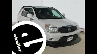Installation of a Trailer Hitch on a 2006 Buick Rendezvous - etrailer.com