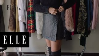 The Perfect Vintage Leather Skirt with Sami Miro | ELLE
