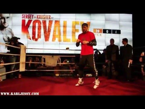 Champ of the world WBA, IBF,WBO Sergey Kovalev Tennis Ball Drill ''Public workout''