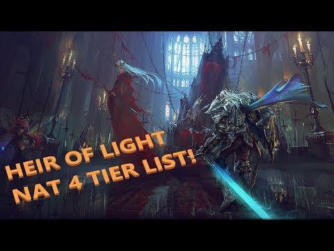 BARCODE - HEIR OF LIGHT - NAT 4 TIER LIST!