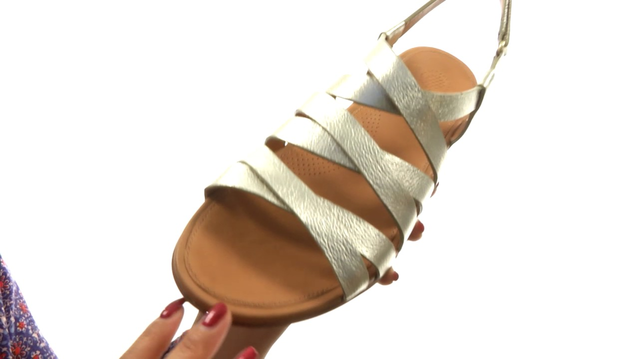 3ac0869f7 FitFlop Lumy Leather Sandal SKU 8858900 - YouTube
