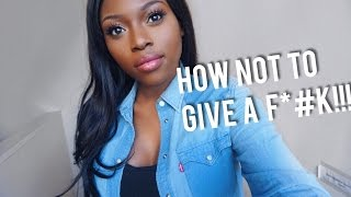 VIRGIN JOURNALS | HOW NOT TO GIVE A F*#K!!!