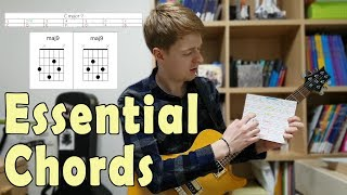5 essential chords for math rock, midwest emo, post rock- standard tuning
