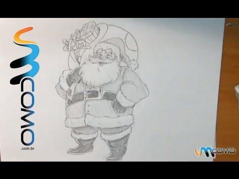 Como desenhar o Papai Noel facilmente