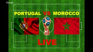 football Live: PORTUGAL vs MOROCCO