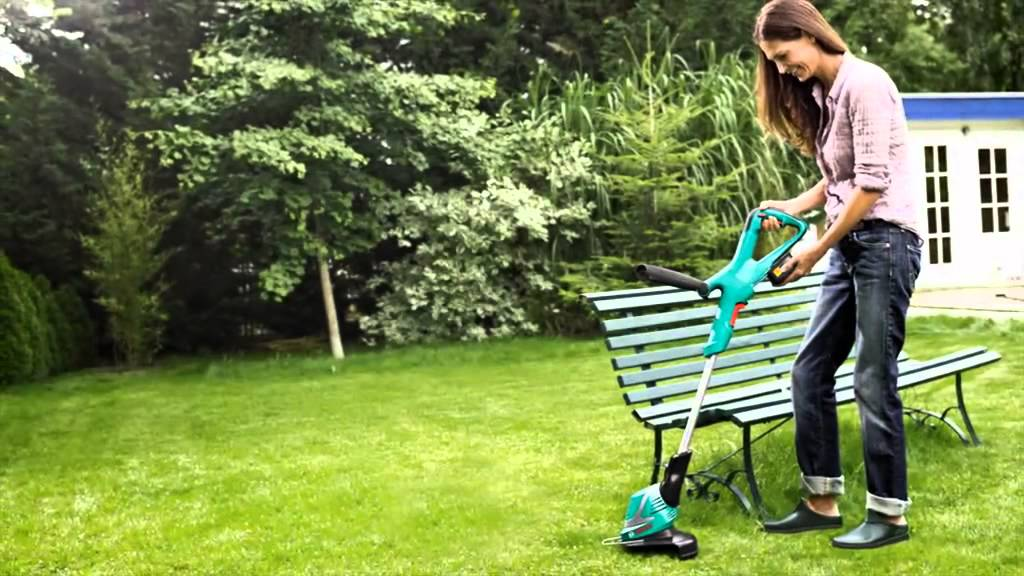 bosch cordless grass trimmer art 23 18 li youtube. Black Bedroom Furniture Sets. Home Design Ideas