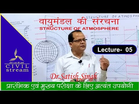 STRUCTURE OF ATMOSPHERE  (वायुमंडल की संरचना) World Geography by- Dr.Statish Singh