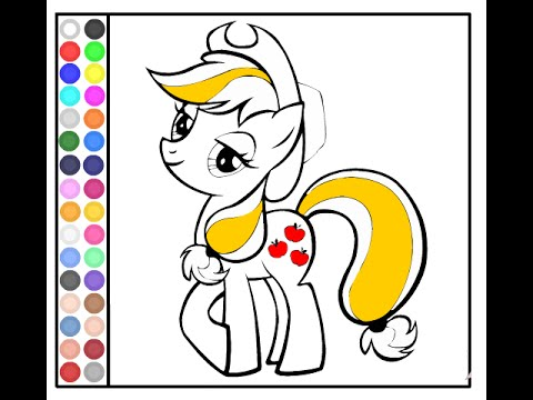 My Little Pony Coloring Pictures Applejack