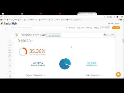 видео: Эфективный анализ сайта с помощью сервиса similarweb.