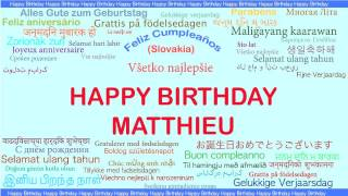 Matthieu   Languages Idiomas - Happy Birthday
