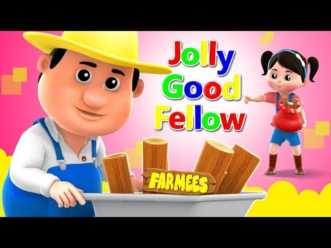 For He's A Jolly Good Fellow | Songs For Children | Video For Toddlers by Farmees