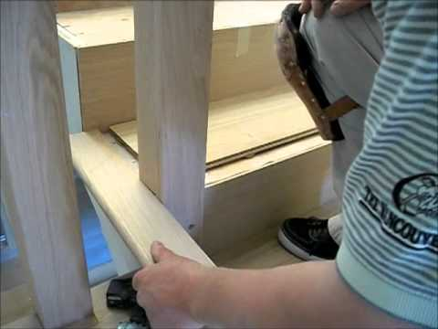 How to install hardwood flooring on stairs open sided staircase how to install hardwood flooring on stairs open sided staircase installation mryoucandoityourself solutioingenieria