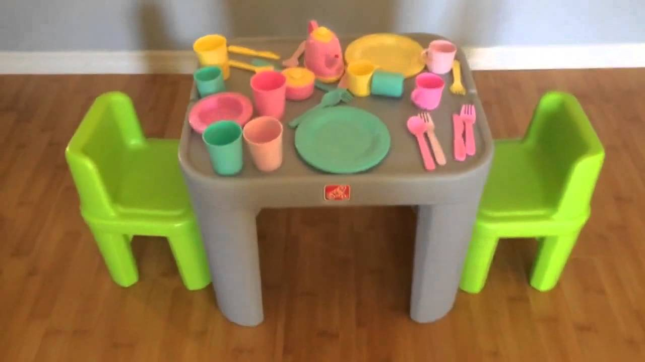 Step2 Mighty My Size Table & Chairs Set Video Review by Raising ...