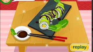Рецепт: Готовим суши ролл Зеленый дракон (Sushi Classes Green Dragon Roll)