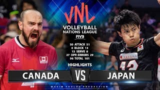 Canada vs Japan | Highlights Men's VNL 2019