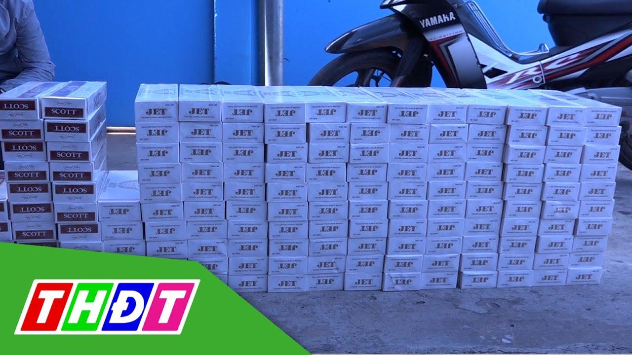 Bến Tre: Bắt vụ vận chuyển 1.500 gói thuốc lá nhập lậu   THDT