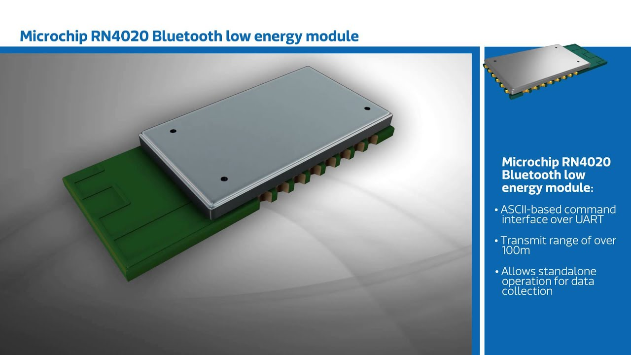 New This Week at Mouser Electronics – Microchip RN4020 Low Energy Bluetooth  Module