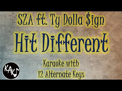 Hit Different Karaoke – SZA ft. Ty Dolla $ign Instrumental Lower Higher Female Male Original Key