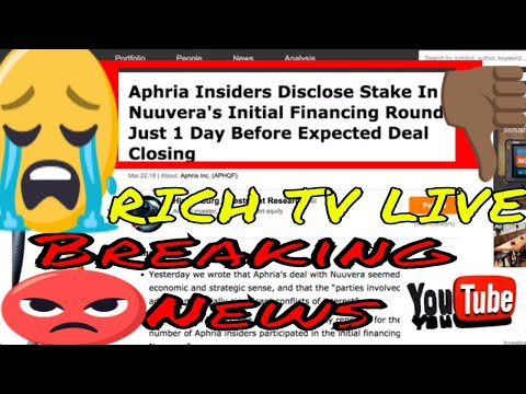 *Breaking News* Aphria (APH) (APHQF) Insiders Disclose Stake In Nuuvera (NUU) 1 Day Before Closing