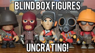 tf2 unboxing 12 portable merc blind box vinyls rare golden engineer cloaked spy demize