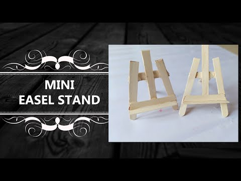#craftingonbudget #popsiclecrafts BUILD A MINI EASEL WITH POPSICLE STICKS  Craft ideas DIY