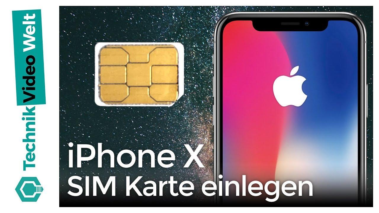 iphone x sim karte iPhone X SIM einsetzen   YouTube
