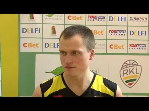 Tauragės KK žaidėjas V.Padgureckas po ketvirtų finalo rungtynių