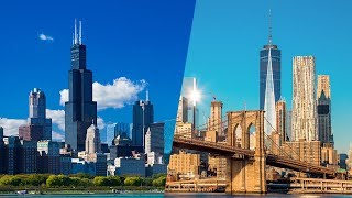 Race for the Skies: Chicago vs. New York | The B1M