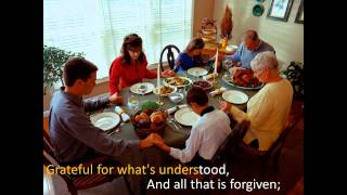 mary chapin carpenter thanksgiving song with lyrics