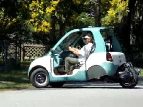 larrys nev bombardier reverse trike first ride youtube. Black Bedroom Furniture Sets. Home Design Ideas