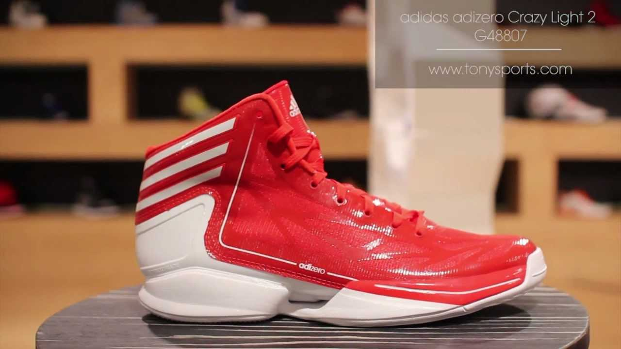 Adidas AdiZero Crazy Light 2   Red/White   G48807 Www.tonysports.com